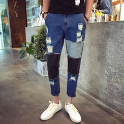 Gonzalito - Paneled Straight-Leg Jeans