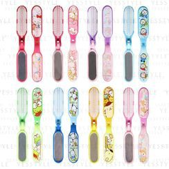 Sanrio - Foldable Hair Brush With Mirror - 8 Types