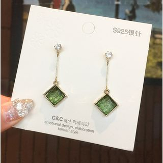 Seoul Young - Resin Square Dangle Earring