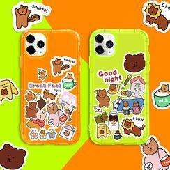 Arancia - Bear Print Phone Case - iPhone 11 Pro Max / 11 Pro / 11 / XS Max / XS / XR / X