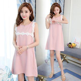 Sienne - Flower Sleeveless A-Line Dress