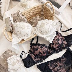 Mimimint - Set: Wireless Lace Bra + Panty