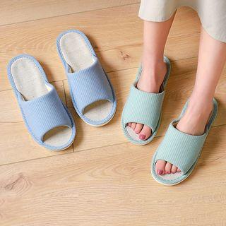 Aisifin - 两件套装: 纯色家居拖鞋