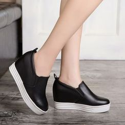 Pretty in Boots - Hidden Wedge Slip Ons