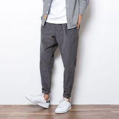 Corrente - Plain Corduroy Tapered Pants