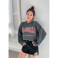 chuu - 'LOS ANGELES' Letter Print Sweater
