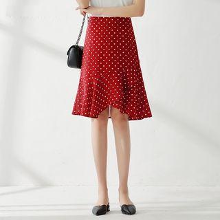 KOUGE - Polka Dot A-Line Skirt