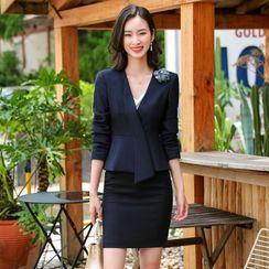 Princess Min - Blazer / Dress Pants / Fitted Skirt / Set