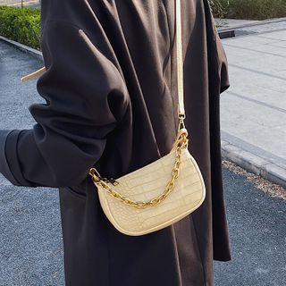 Miloes - Crocodile Grain Zip Crossbody Bag