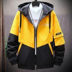 Hankatu - Color Block Hooded Zip Jacket