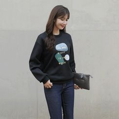 CLICK - Printed Fleece-Lined Pullover
