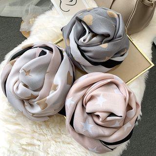 Amandier - 图案棉麻围巾