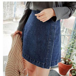 Oaksa - Denim A-line Skirt
