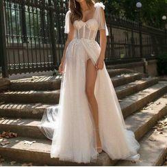 Yikkus - Lace A-Line Dress