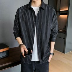 POSI - Pinstriped Long-Sleeve Shirt