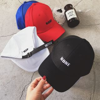 FROME - 'NONE' Embroidered Baseball Cap