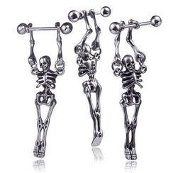 Prushia - Stainless Steel Skeleton Ear Stud