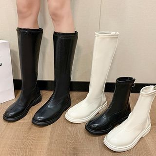 clog & wings - Faux Leather Short Boots / Tall Boots