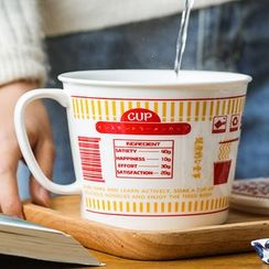 Evebe - Instant Noodle Print Ceramic Bowl