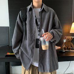 Shazoom - Oversized Corduroy Shirt Jacket