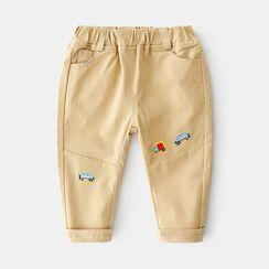 贝壳童装 - 小童刺绣哈伦裤