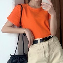 Hippona - 短袖纯色T裇