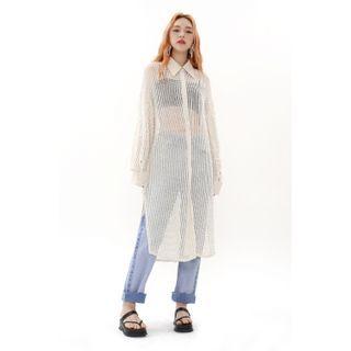 SIMPLY MOOD - See-Through Midi Shirtdress
