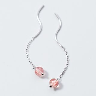 A'ROCH(エーロック) - 925 Sterling Silver Bead Wavy Threader Earring