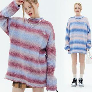 Kendeshi - Oversized Striped Logo Sweater