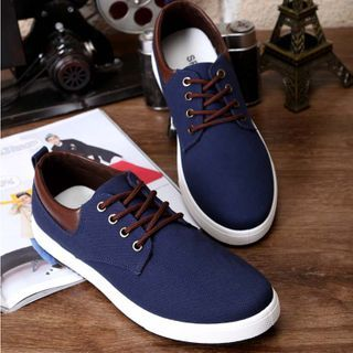 Red Star - Lace-Up Canvas Shoes