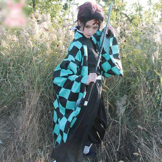 Mikasa - 鬼灭之刃: 灶门炭治郎角色扮演服装 / 假发 / 套装