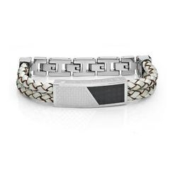 Kenny & co. - Cross Leather Bracelet (White)