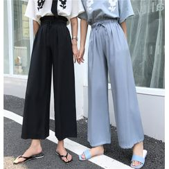 Guromo - High Waist Wide-Leg Pants