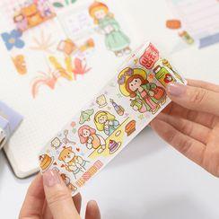 MUNBANG - 卡通印花美紋紙膠帶