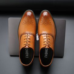 Pikkolo - Pointed Lace-Up Brogue Shoes