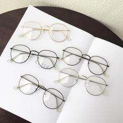 Aisyi - 圆形金属框眼镜