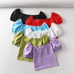 Indesi - Short-Sleeve Square-Neck T-Shirt
