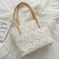 Hydracinthe - Lace Tote Bag