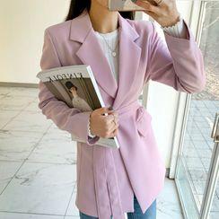 DEEPNY - Flap-Pocket Long Robe Blazer