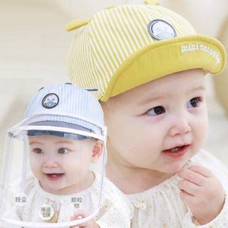 Allium - Babies Print Baseball Cap with Detachable Face Shield