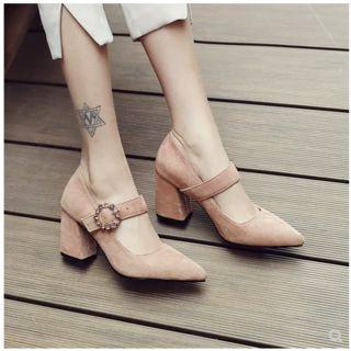 Freesia - 玛丽珍粗跟鞋