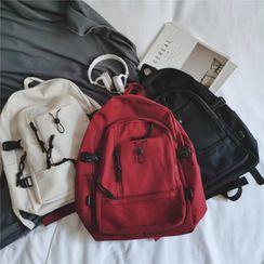 Anna Momo - Plain Nylon Backpack