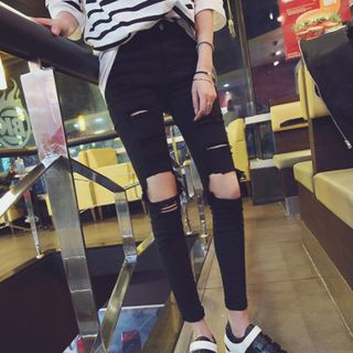 Colsme - Distressed Skinny Jeans