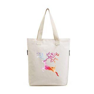 Lozynn - 鹿印花帆布購物袋