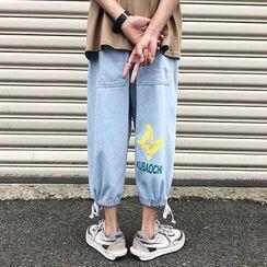 YERGO - 印花哈伦牛仔裤