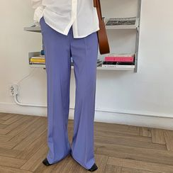 FROMBEGINNING - Semi Wide-Leg Dress Pants