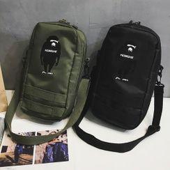 SUNMAN - Gorilla Print Nylon Crossbody Bag