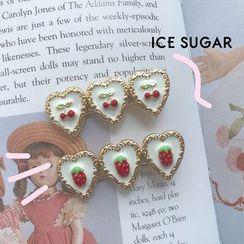 ICE SUGAR - Alloy Strawberry / Cherry Heart Hair Clip