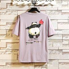 Andrei - Short-Sleeve Printed Panda T-Shirt