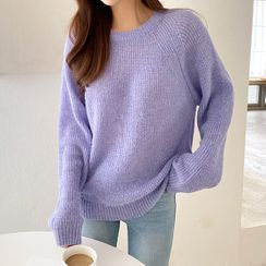 Seoul Fashion - Raglan-Sleeve Colored Sweater